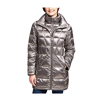 7a88f64bf441e Amazon.com: Andrew Marc Ladies' Packable Down Jacket (L, Gray): Clothing