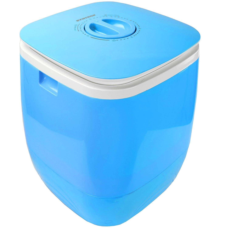 Syntrox Germany WM-150W Blue Waschmaschine mit Schleuder Campingwaschmaschine Mini Waschmaschine (Blau)