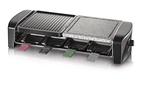 SEVERIN Raclette Grill con Piedra Natural y Plancha, 1.400 W aprox., Incl.