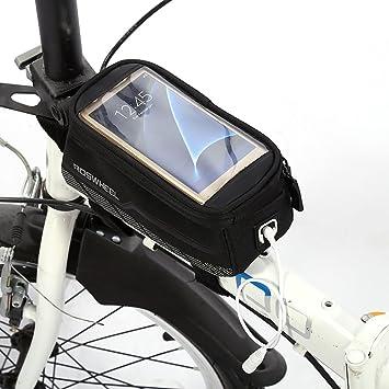 Bicicleta bolsa para bicicleta alforjas para tubo superior de ...