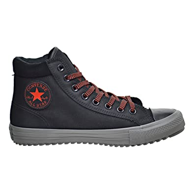 Converse WELLS LEATHER MID Black/Red Unisex Shoes