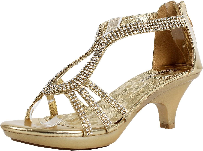 Gold Dress Shoes Low Heel