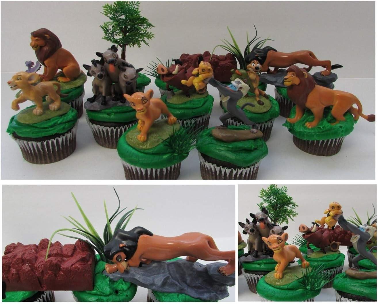 Amazon.com: Rey León 11 pieza Cumpleaños Cupcake Topper Set ...