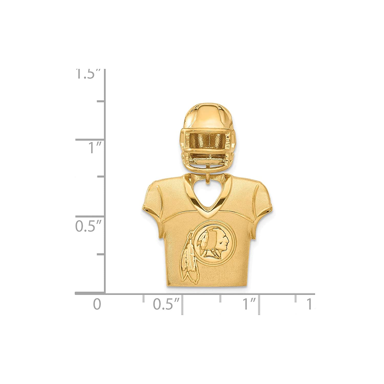 Kira Riley Gold Plated Washington Redskins Jersey /& Helmet Pendant for Chains and Necklaces