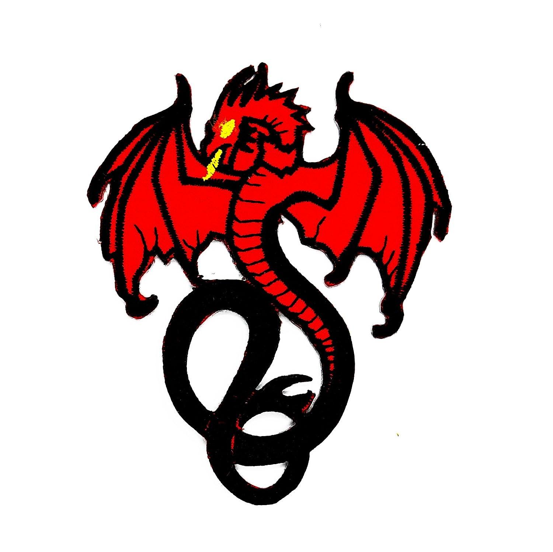 RABANA Red Dragon Wings Chino Dragón Kung Fu Tatuaje Cartoon Niños ...