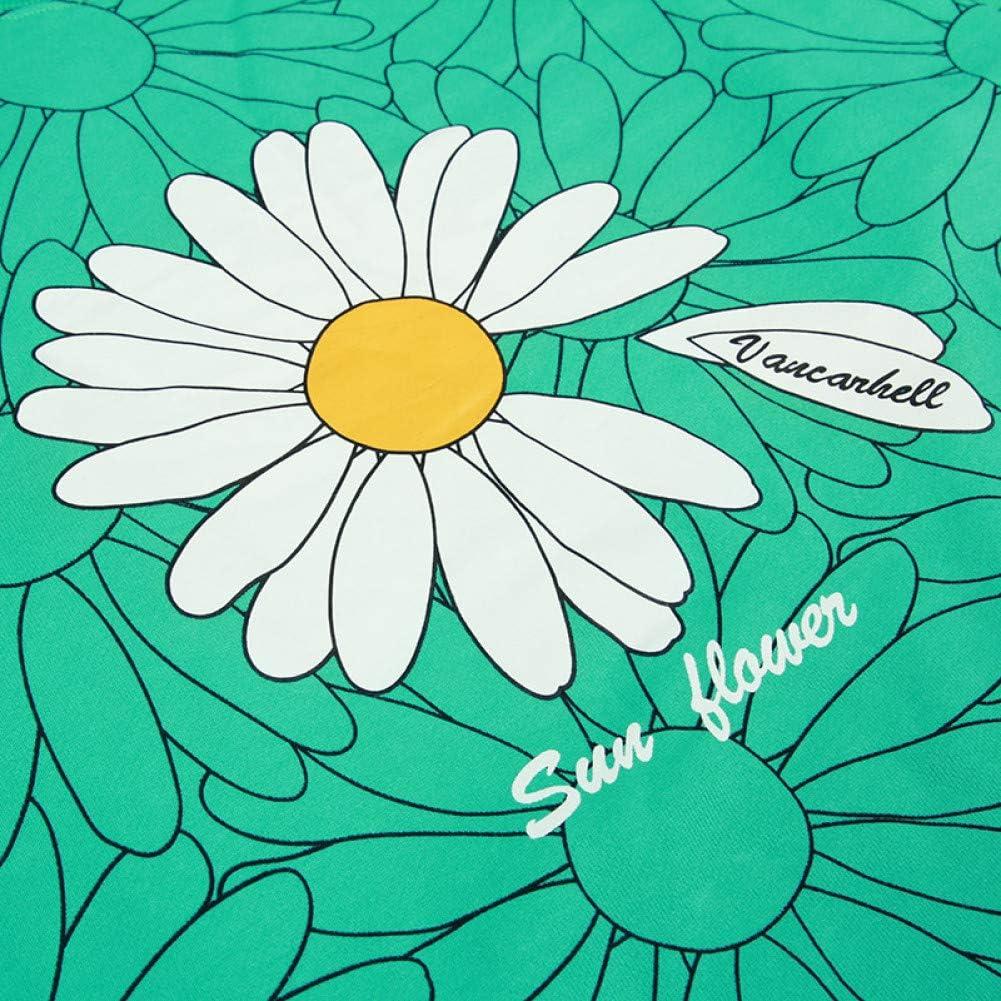 SONGHJ Herren Streetwear Harajuku Pullover Sweatshirt Daisy Flower Print Pullover Baumwolle Loose Floral Sweatshirt Hoodie S