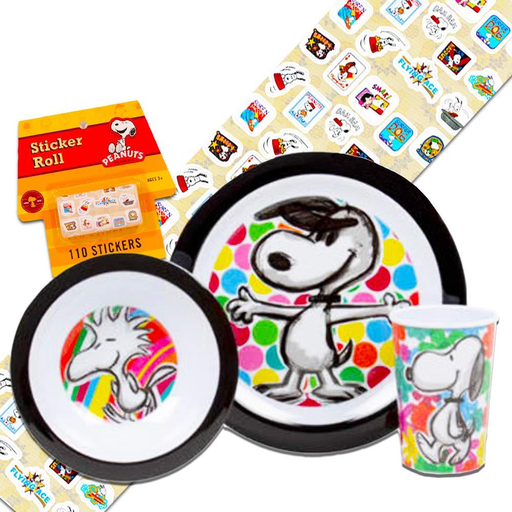 2380976003a057 Amazon.com   Peanuts Toddler Dinnerware Set - Plate