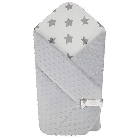 BlueberryShop polar Minky manta reversible para envolver al bebé | Saco de dormir para bebés recién nacidos | Para bebés de 0-3 meses | Regalo ...