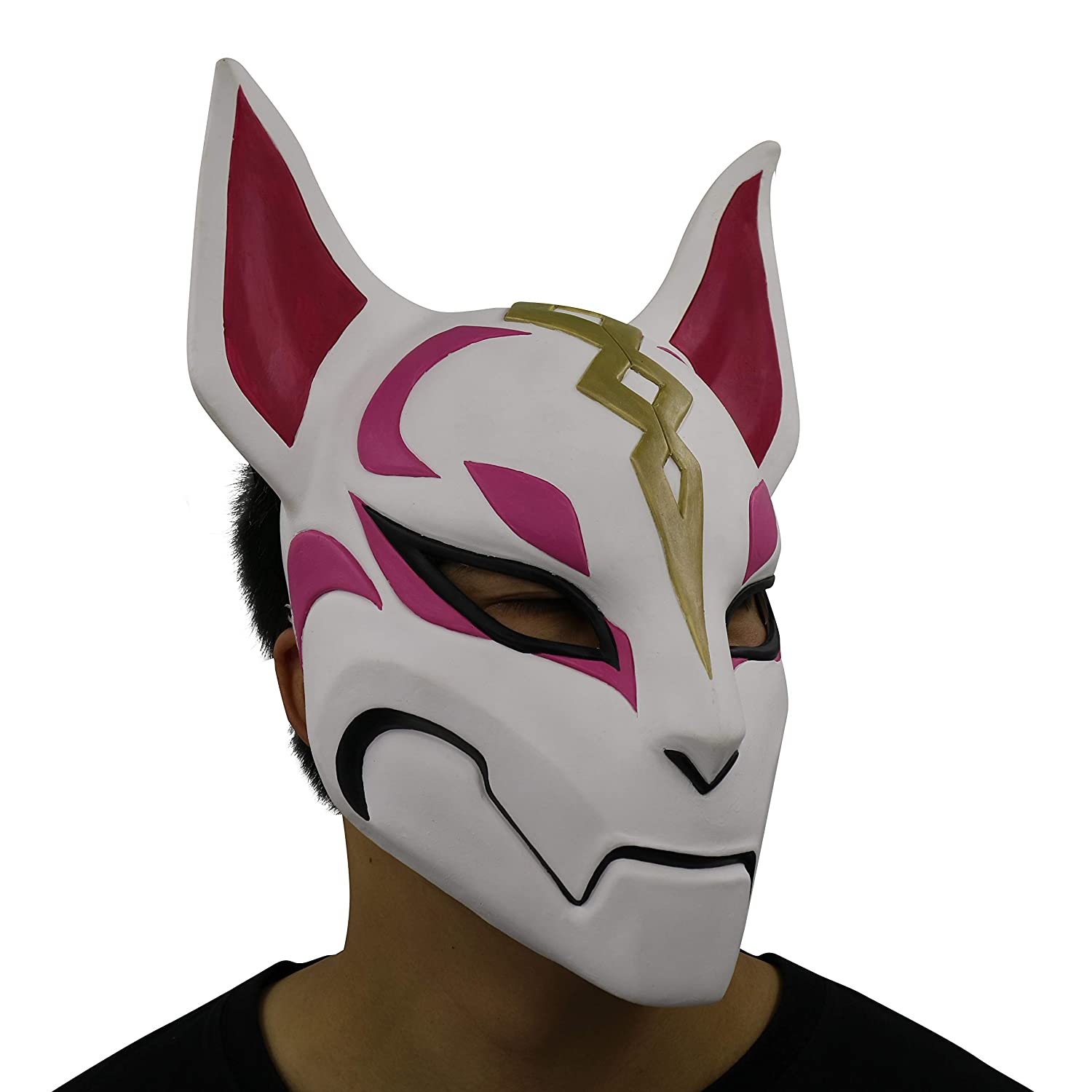 yacn fortnite Fox Drift Máscara Disfraz Latex Animal Toy Mask Halloween Cosplay: Amazon.es: Juguetes y juegos