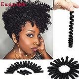 3 Packs Eunice Hair Synthetic Toni Curl Crochet Braids Short Kanekalon Braiding Hair Spiral Curls Jamaican Bouncy Twist…