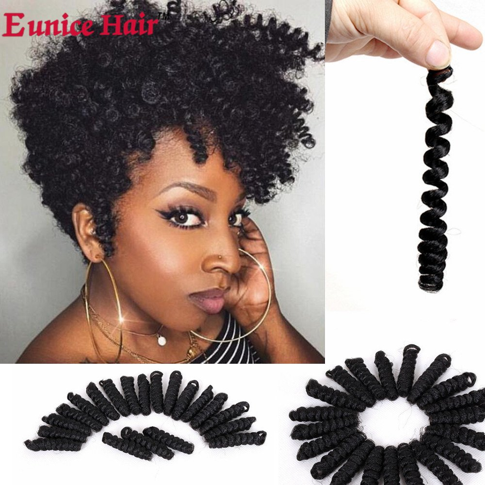 Amazoncom 3 Packs Eunice Hair 10 Short Bouncy Twist Small Curly