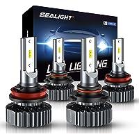 SEALIGHT 9005/HB3 H11/H8 LED Headlight Bulbs, 20000LM High Low Beam Combo Conversion Kit Hi/Lo Lights - 6000K White