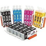 Kingway Replacement for Canon PGI-550XL CLI-551XL High Yield Inks Cartridges with Latest Updated Chips for Canon Pixma MG5400 MG5450 MG5550 MG5650 MG6350 MG6450 MG6650 IX6850 MG7150 MG7500 MX725 MX920 MX925 IP7200 IP7250 Series Printers - (5 PGI-550XL Black / 3 CLI-551XL Black / 3 Cyan / 3 Magenta / 3 Yellow) 17 Pack