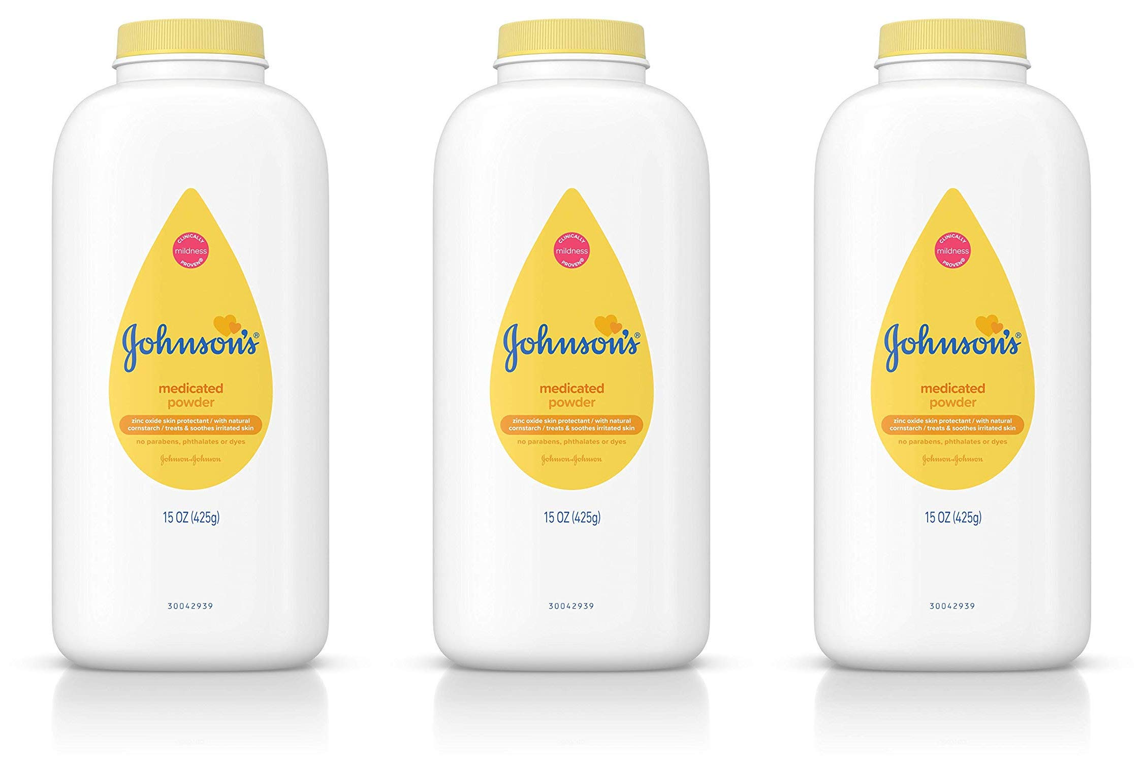 JOHNSON'S Medicated Baby Powder 15 oz ( Pack of 3) by Johnson's Baby
