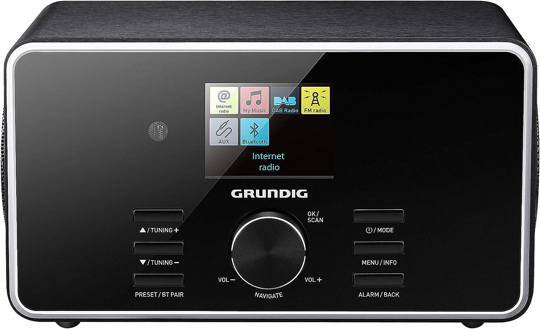 Grundig Dtr 5000 2 0 Bt Dab Web All In One Internetradio Mit Bluetooth Und Empfang Schwarz Heimkino Tv Video
