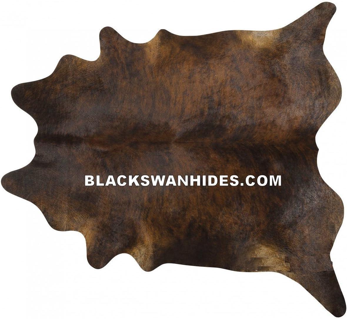 Bds Dark Brindle Brazilian Cowhide Rug Cow Hide Skin Leather Area Rug – by BlackSwanHides