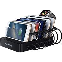 ValueTalks Estación de Carga 6 Puertos con Base de Carga para Huawei Galaxy Phone Móvil y Tableta(Incluído 6 Cables para…