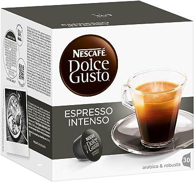 Nescafé Dolce Gusto Espresso Intenso, Café, Cappuccino, Pack de 30 ...