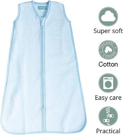 molis&co. Saco de Dormir para bebé. Ideal para Entretiempo. 1.0 TOG. Suave y Acogedor. 100% algodón orgánico, Ligeramente Acolchado.