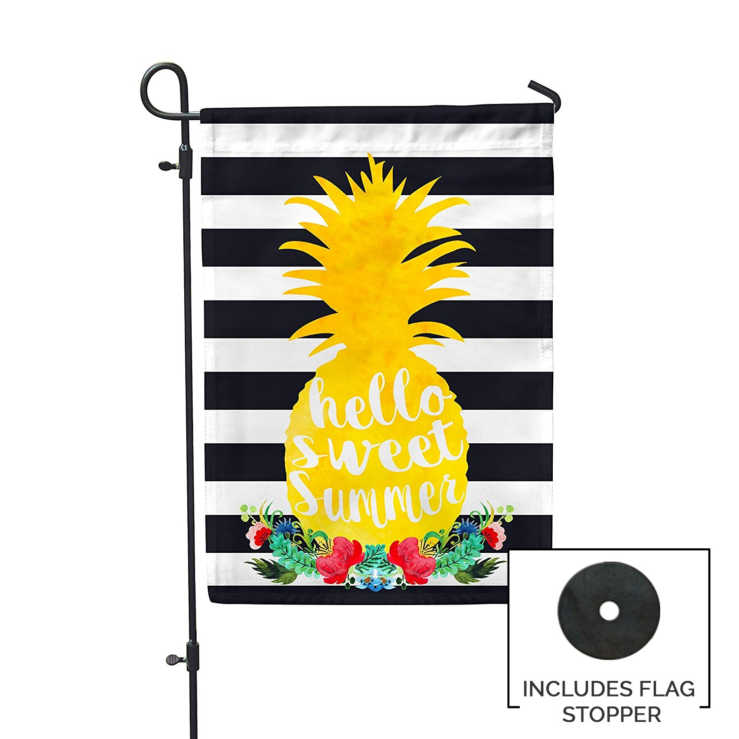 Second East Sweet Summer Pineapple Garden Flag Outdoor Patio Seasonal Holiday Fabric 12''X18''