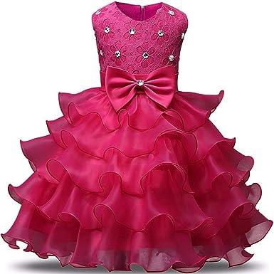 Amazon.com: Balalei - Vestido para niña con flores, vestido ...