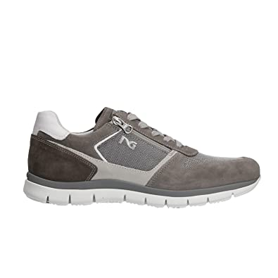 Nero Giardini P800235U Sneakers Homme Gris - Chaussures Baskets basses Homme