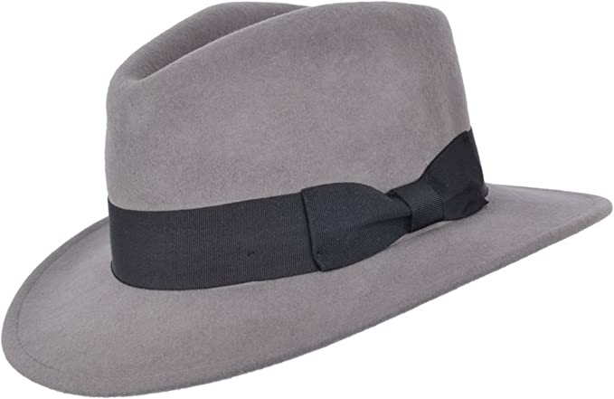1920s Men's Fashion UK | Peaky Blinders Clothing Crushable Hand Made Gents Indiana Wool Felt Fedora Trilby Hat With Wide Band £26.99 AT vintagedancer.com