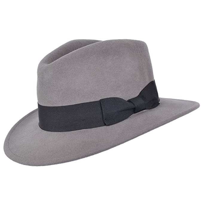 1940s UK and Europe Men's Clothing – WW2, Swing Dance, Goodwin High Quality Crushable Hand Made Gents Indiana 100% Wool Felt Fedora Trilby Hat With Wide Band £25.99 AT vintagedancer.com