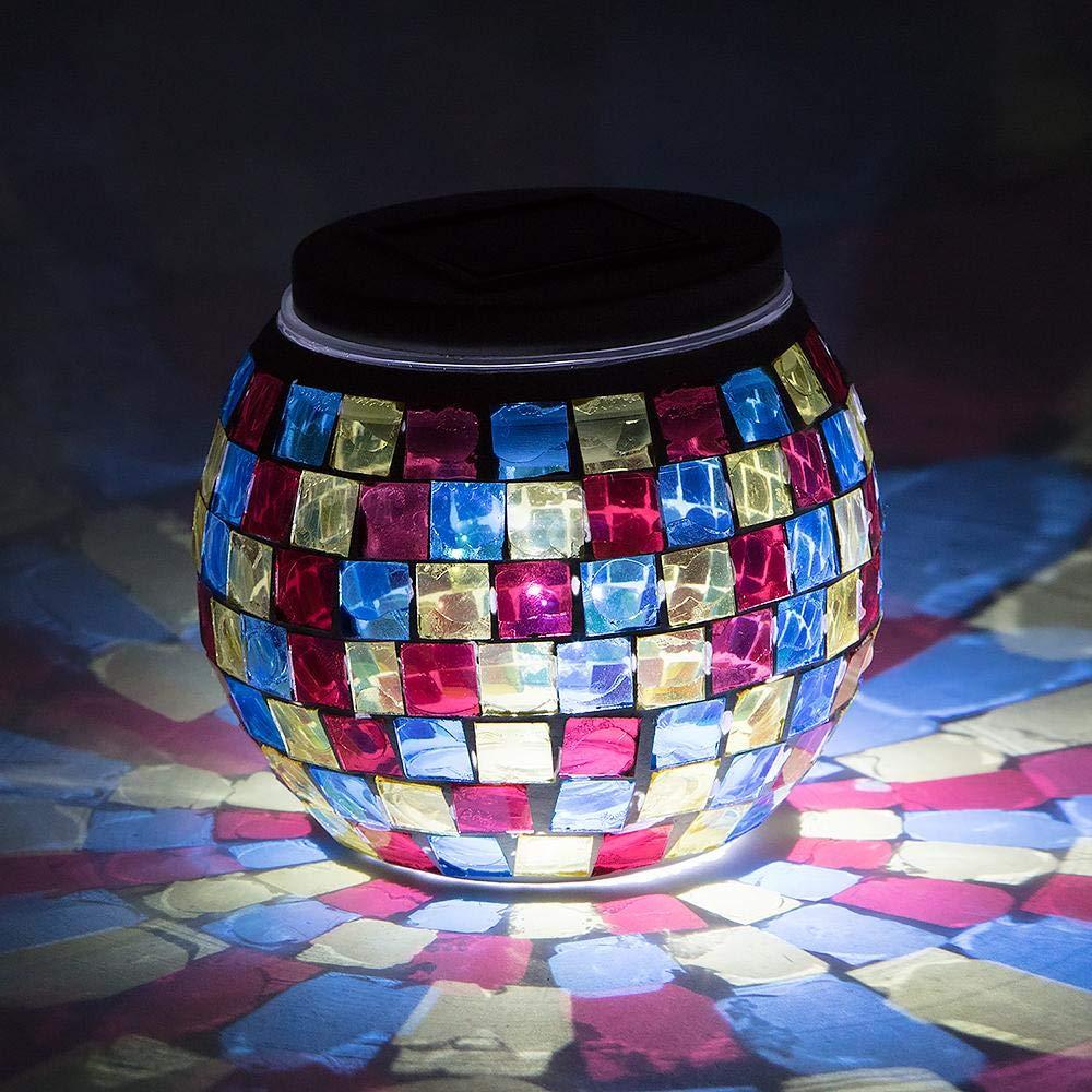Fantado 4 Solar Mosaic Powered Multi-Color Table Light