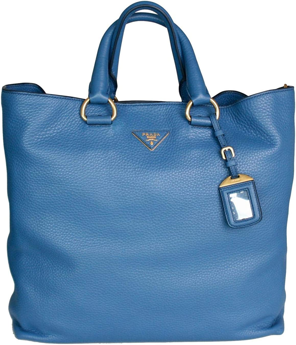 Prada Women's BN1713 BBE F0215 Blue Leather Evening Purse