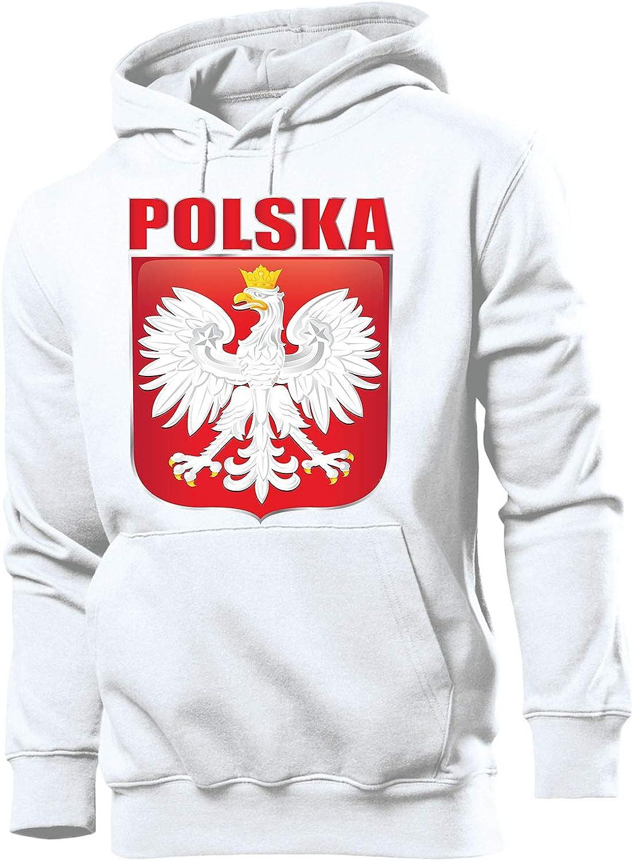 Polen Polska Poland Fanartikel Fussball Langarm Shirt Longsleeve Hoodie Pulli Sweatshirt Kapuzen Pullover M/änner Herren Damen Frauen Kids Kinder