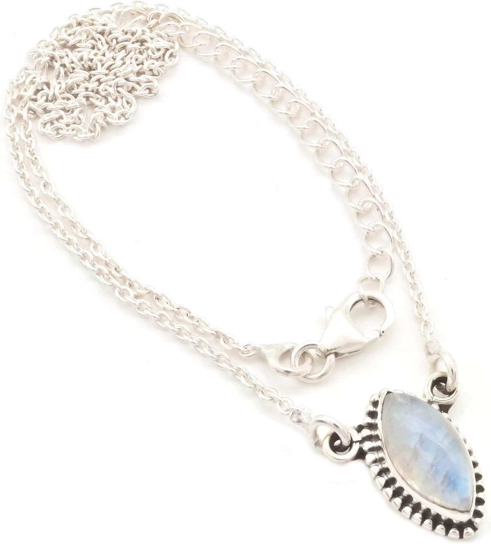 Collar plata 925 con Piedra de luna (MCO 11)