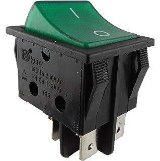 Wippenschalter rund mit grün beleuchtetet 230V