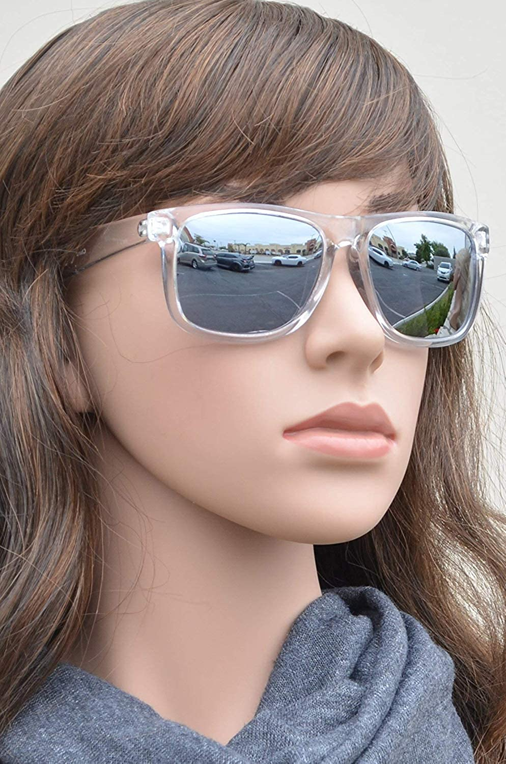 UV400 Gradient Color Mirror Lens Retro Sports Beach PZ Polarized Square Sunglasses Women Men