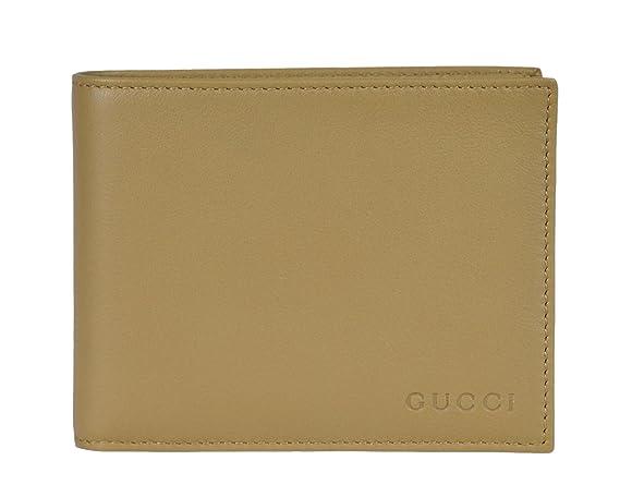 4daece71c2c Amazon.com  Gucci Men s Leather Bi-fold Wallet 278596 2608 Light Olive   Clothing