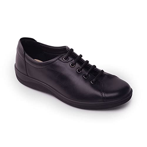 29229ff5779ed Padders Women's Leather Shoe 'Galaxy 2' | Classic Leather Casual Shoe | Wide  E