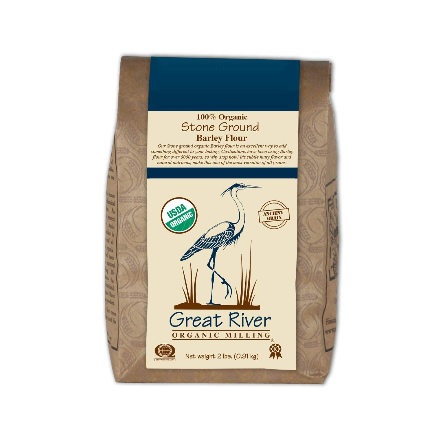 Great River Organic Milling Organic Barley Flour, 2 Pound(Pack of 4) by Great River Organic Milling (Image #4)