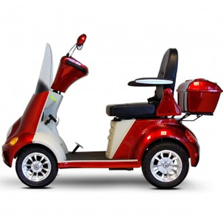 E-Wheels - EW-52 Heavy Duty Bariatric Scooter - 4-Wheel - 18''W x 19''D - Red