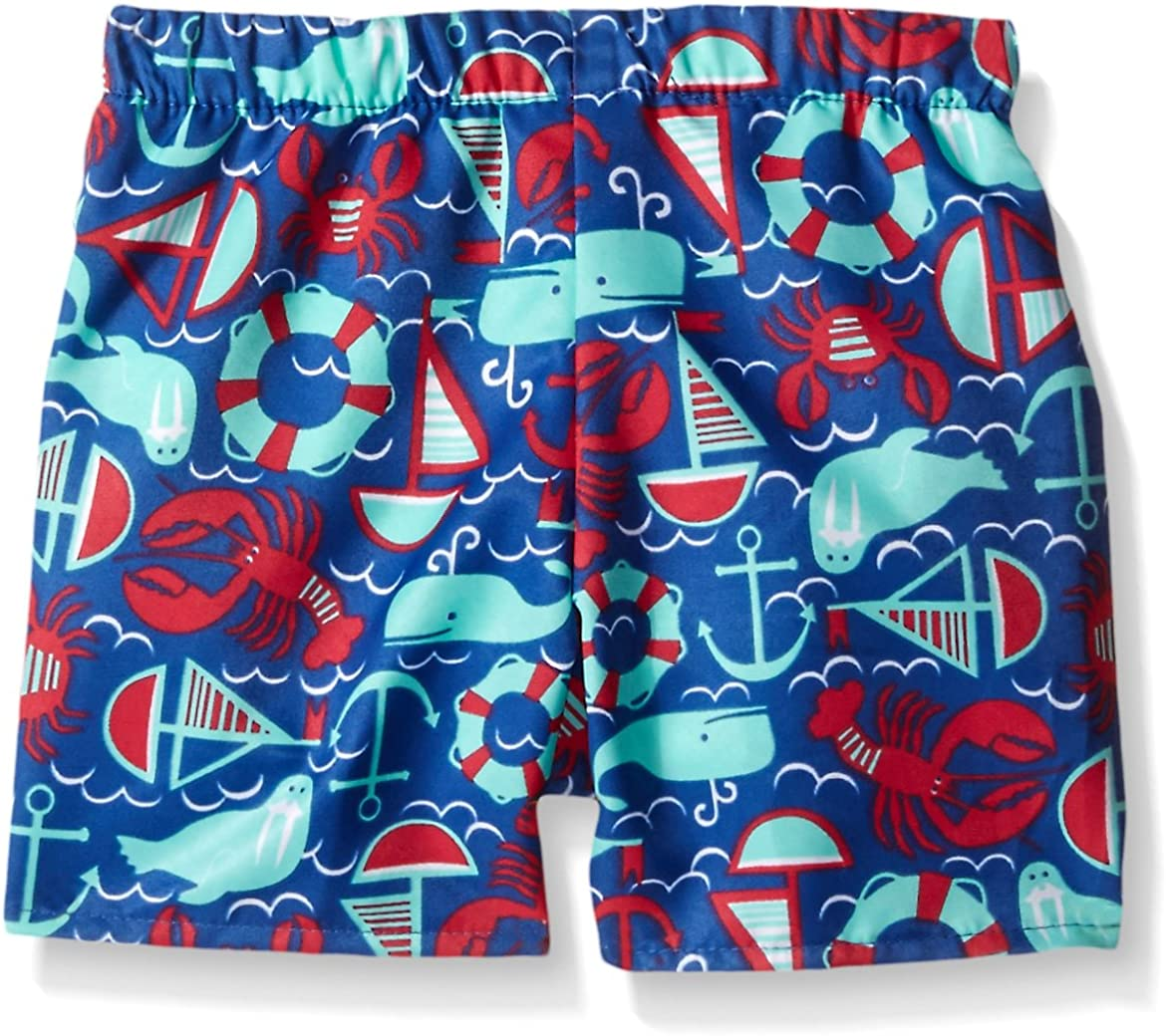 Flap Happy Baby Boys Upf 50 Rash Guard and Infant Swim Diaper Trunk Set