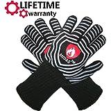 Midas Grillhandschuhe – EN407 hitzebeständig bis zu 500°C, 1 Paar, Hochwertige extra lange Ofenhandschuhe, Topfhandschuhe, Backhandschuhe, von Midas