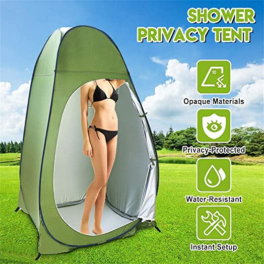ZKU Pop Up Tent – Automatic Instant Tent Portable Outdoor Pop-up Toilet Dressing Fitting Room Privacy Shelter Tentfor Camping, Backpacking, Hiking Outdoor Music Festivals 3-5people