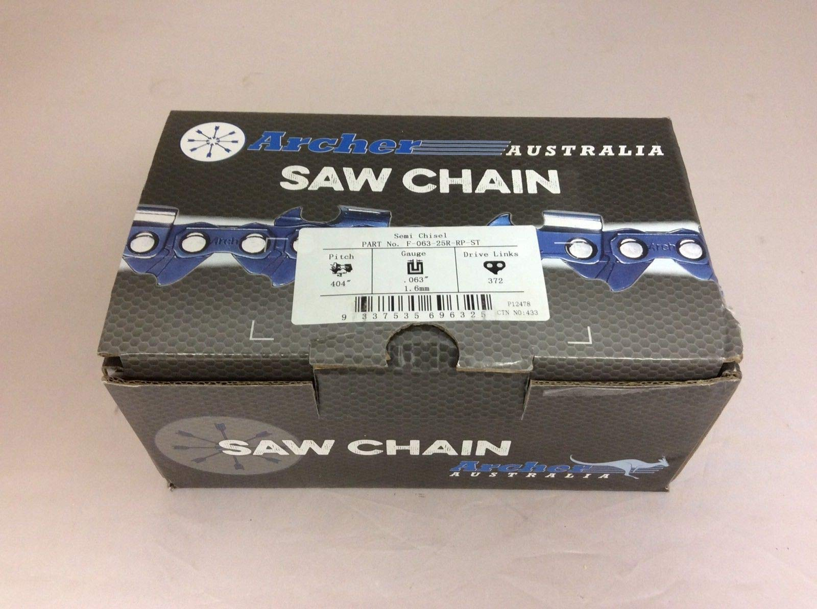 Archer Chainsaw Chain 25ft Roll .404 .063 Skip Tooth Ripping Chainsaw Chain