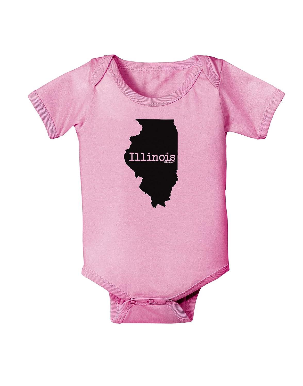 TooLoud Illinois United States Shape Baby Romper Bodysuit