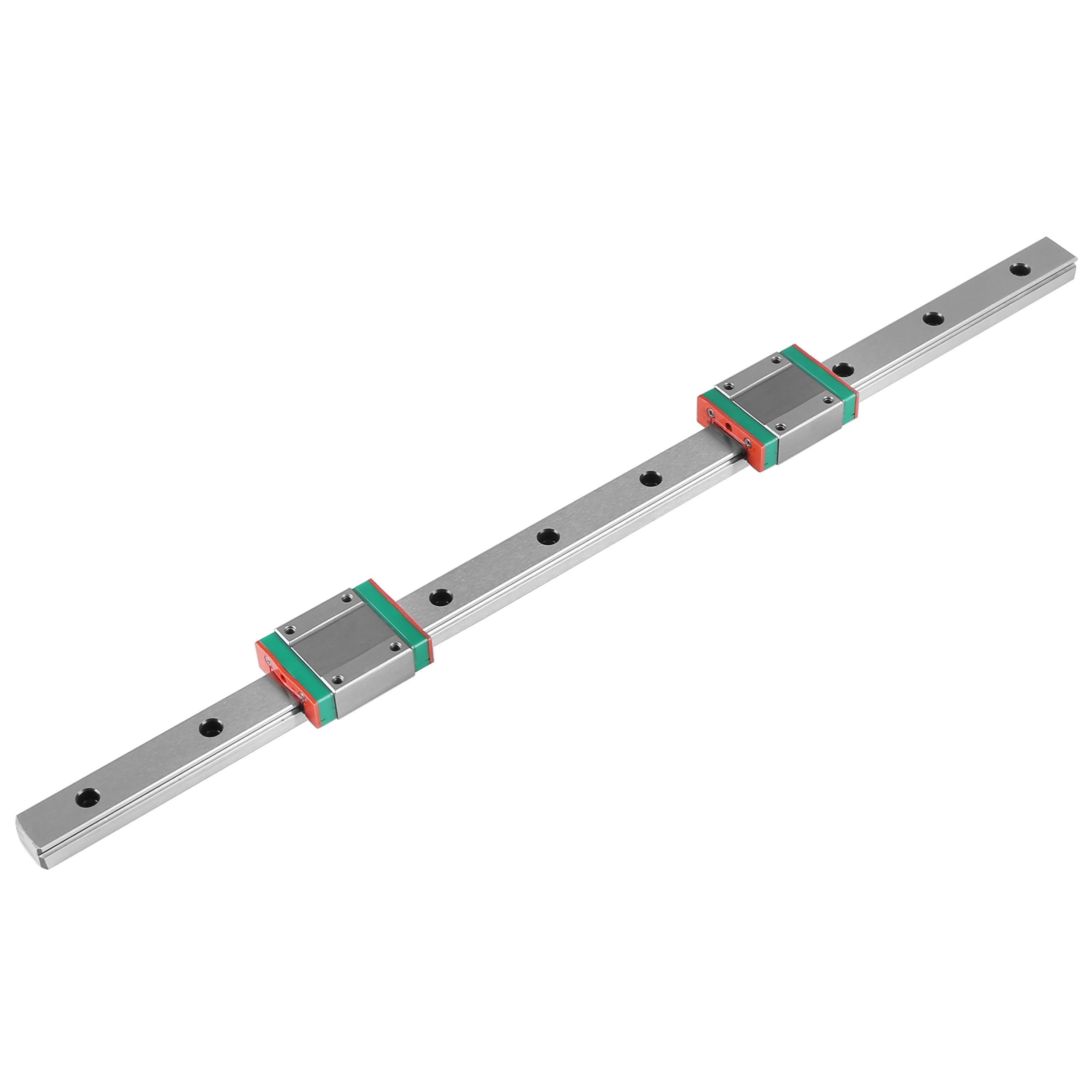 1pc 400mm/15.7in Steel High Precision Miniature Linear Sliding Rail Guide with 2 Block