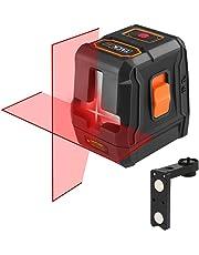 Nivel Láser Avanzado, Tacklife SC-L07 Nivelador Autonivelante cruzado de 15m, Láser de líneas automática 110° horizontal/vertical,IP54, 35m con Receptor láser, un soporte magnético