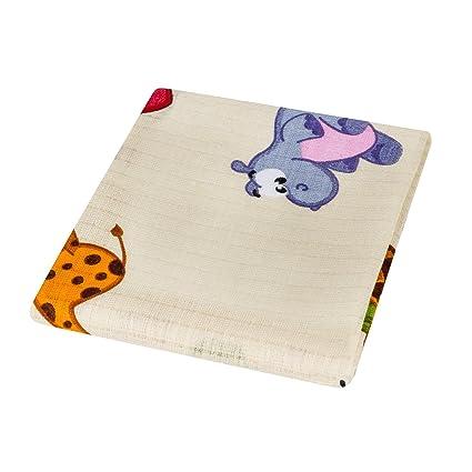 Pañuelos cuadrados de muselina para bebés 100% algodón alta