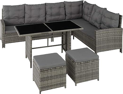 TecTake 800753 Conjunto Muebles de Jardín Ratán para 8 Personas ...