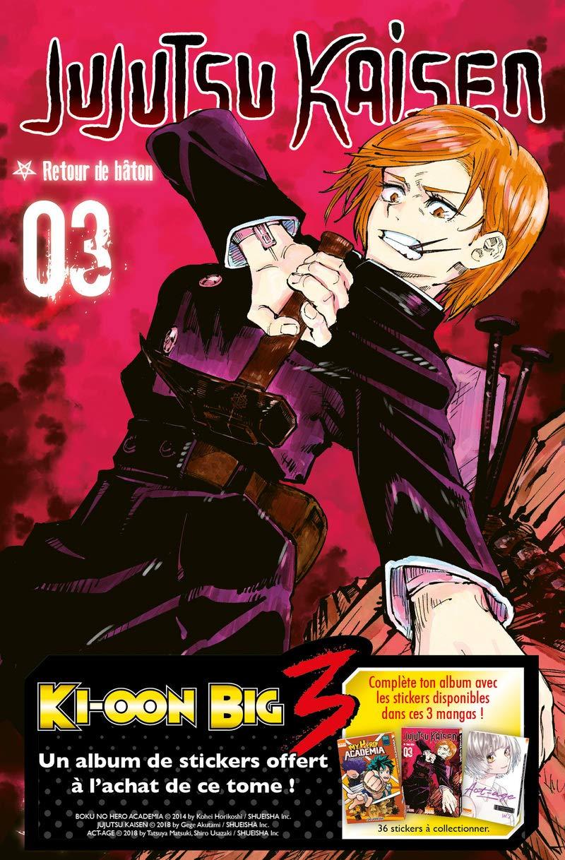 Jujutsu Kaisen T03 Op Big Three 3 Avec Un Album De Stickers Offert Amazon De Akutami Gege Clair Obscur Lamodiere Fedoua Fremdsprachige Bucher