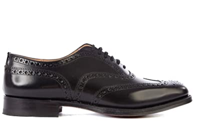 Church s Men s Classic Leather lace up Laced Formal Shoes Brogue Burwood  Black UK Size 9.5 734051 ee77bfdd4ea