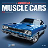 American Muscle Cars 2018 12 x 12 Inch Monthly Square Wall Calendar with Foil Stamped Cover by Plato, USA Motor Ford Chevrolet Chrysler Oldsmobile Pontiac